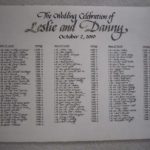 calligraphy, wedding, seating chart