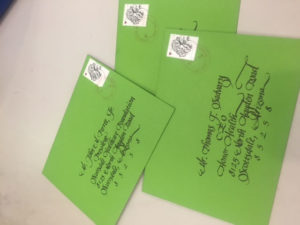 calligraphy,lettering,envelope addressed,invitations