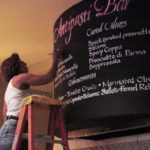 Chalkboard, calligraphy, lettering