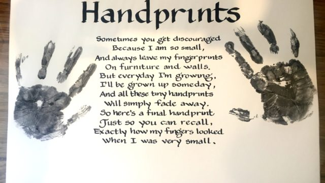 Handprints Poem