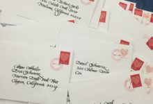 calligraphy, lettering, envelope