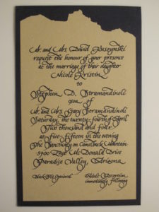 calligraphy, wedding, invitation