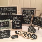 calligraphy, lettering, chalkboard