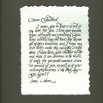 calligraphy, lettering, gift