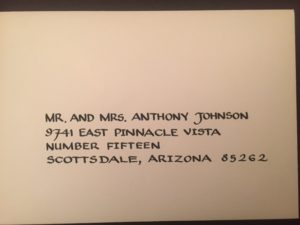 calligraphy, lettering, envelope addressing