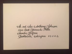 calligraphy, lettering, envelope addressing